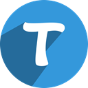 Tango, Social, network, free, media DodgerBlue icon