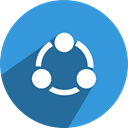 free, Social, network, shareit, media DodgerBlue icon