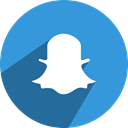Dream, network, media, Chat, Social, Snapchat, snap DodgerBlue icon