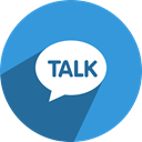 media, Kakao, network, Chat, Conversation, Social, talk DodgerBlue icon