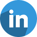 Link, media, Linkedin, linked, Social, network, In DodgerBlue icon