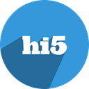 Hi5, network, free, media, Social DodgerBlue icon