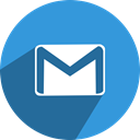 media, network, Email, mail, gmail, google, Social DodgerBlue icon