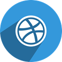 media, dribbble, free, Social, network DodgerBlue icon