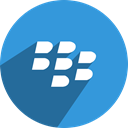 Blackberry, Social, media, network DodgerBlue icon