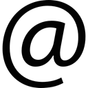 emails, interface, internet, internet connection, At, Email Black icon