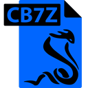 File, Sumatrapdf, Cb7z, Format, comic book DodgerBlue icon