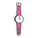 Hand, Female, Clock, watch, woman, time, wrist Black icon