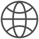travelling, sea, earth, trip, globe, world, Map DarkSlateGray icon