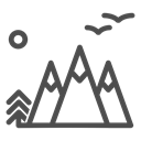 nature, Air, Tent, fresh, mountains, tourism, Forest Black icon
