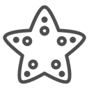 star, ocean, travelling, fish, Animal, sea, water Black icon