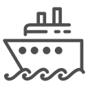 water, sea, ocean, Boat, ship, Cruise, travelling Black icon