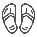 sand, hotel, relax, Clothes, legs, trip, slippers DarkSlateGray icon