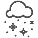 flakes, winter, Clouds, christmas, Cold, sky, Snow Black icon