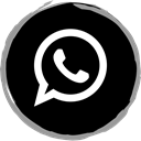 Social, media, Whatsapp, Logo Black icon