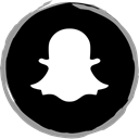 Snapchat, Social, media, Logo Black icon