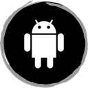 Logo, Android, media, Social Black icon