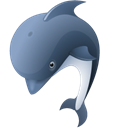 dolphin, Animal Black icon