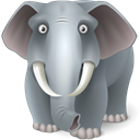 Animal, elephant DimGray icon