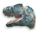 dinosaur, theropod Black icon