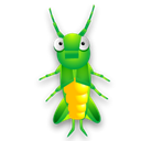 Animal, bug, Cricket, insect Black icon