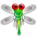 bug, Dragon, Animal, fly, insect Black icon