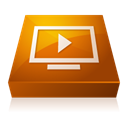 media, adobe, player SaddleBrown icon