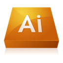 illustrator, adobe Chocolate icon