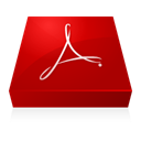 inverted, Acrobat, adobe DarkRed icon