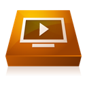 player, adobe, media, shaded SaddleBrown icon
