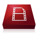 Flash, video, adobe, encoder Maroon icon