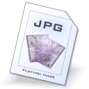 Jpeg, jpg Black icon