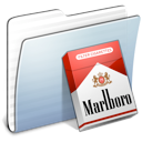 stripped, marlboro, Graphite, Folder LightSteelBlue icon