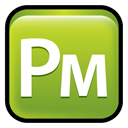 adobe, Cs, pagemaker YellowGreen icon