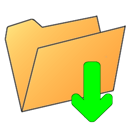 Folder, Arrow, Down Icon