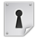 key hole, document, security, Encrypted, File, Application, Lock, paper, locked, Pgp Gainsboro icon