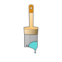 Brush, Color, paint, repair, Painting, Brushes, tool Black icon