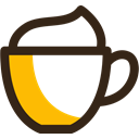 cappuccino, Coffee, drink, Cream, beverage, cup, Cafe Black icon