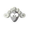 Cartoon, Animal, Sheep, funny Black icon