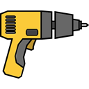 tools, Maintenance, driller, repair, Drill Black icon