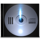 Cd, save, Disk, disc Black icon