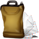 Letter, Email, Message, envelop, mail, bagg Black icon