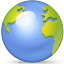 earth, globe, world, planet CornflowerBlue icon