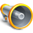 anuncio, megaphone, Promotion, Advertisment DimGray icon