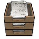 stack, Inboxes DimGray icon