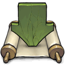 download, script DarkOliveGreen icon