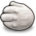 reused, Hand DarkGray icon