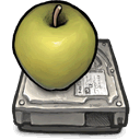 Apple, drive DarkKhaki icon