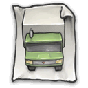 truck, File DarkSlateGray icon