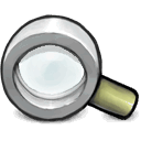 magnifying, glass DarkGray icon